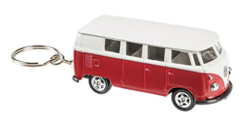 Welly 10077878 - Schlüsselanhänger VW T1, Fahrzeug , rot/weiß