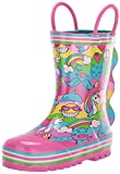 Western Chief Girls Waterproof Printed Rain Boot with Easy Pull on Handles, 2 Cool, 13 Little Kid