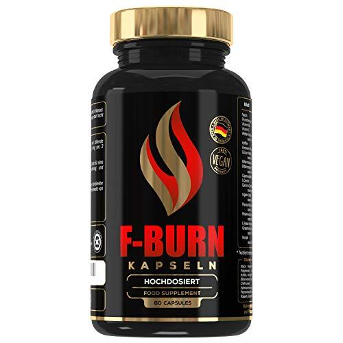 F-BURN - Für einen normalen Stoffwechsel mit Pflanzenstoffen und Vitaminen - Energiestoffwechsel, 60 Kapseln, Made in Germany, MVN®