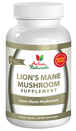 Lions Mane Mushroom Supplement - 120 Veg. Capsules with Lions Mane Mushrooms