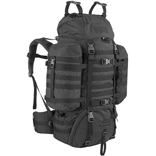 Wisport Raccoon 65 Liter Militär Rucksack, Cordura, MOLLE, Rucksack, Überleben, Sport, Outdoor, Camping, Wandern, Scouting, Trekking (Schwarz)
