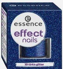 Essence Nail Art Effect Nail Art 3D Turquoise Paillettes 11 dans une starlet