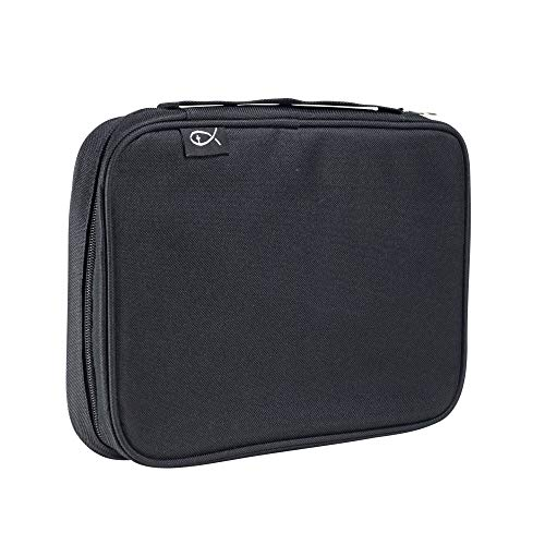 Divinity Boutique Bible Cover Basic Black - Extra Large (21442) | Fits Bibles up to 7.25' x 10.125' x 2.25'