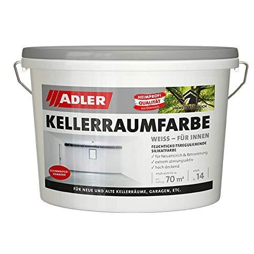 Kellerraumfarbe - weiße, geruchsneutrale Silikatfarbe - 14kg - ohne Lösemittel, Weichmacher und Konservierungsmittel