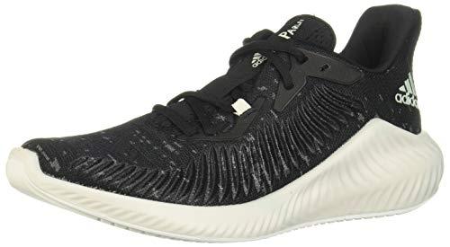 adidas Alphabounce+ Parley, Zapatillas para Correr para Mujer, Cblack/Lingrn/Ftwwht, 40 2/3 EU