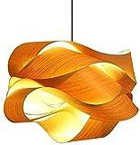 WDXJC Lámpallas de madera simples, ratán de mimbre natural y candelabros de bambú de lámpara de lámpara de espiral, lámparas de madera, lámparas de techo, lámpara de techo, chandeliers, lámpara, lámpa