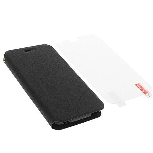 foto-kontor Tasche für Acer Liquid Z630 Liquid M630 Book Style schwarz Schutz Hülle Buch + Schutzfolie