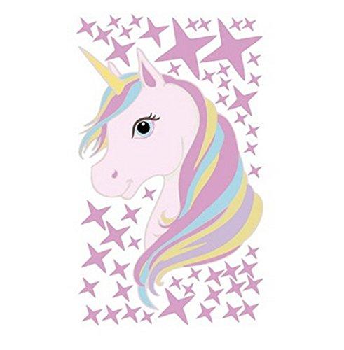 QYL Rainbow Star Unicorn Muursticker verwijdert muurdecoratie voor meisjes slaapkamer kinderkamer Home Decor