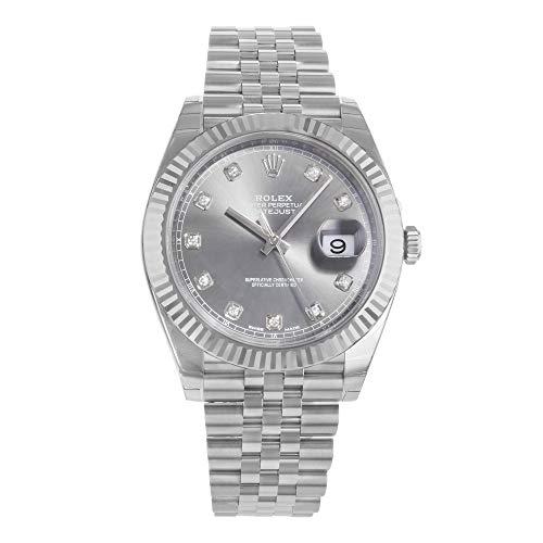 Rolex Datejust rodio diamante Dial reloj automático de los hombres 126334RDJ