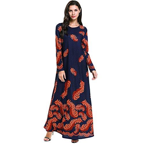 Lazzboy Gewand Frauen Abaya Islamisches Moslemisches Nahes Langes Kleid Muslim Loser Islamischer Arabischer Kaftan Temperament Schlanker Moslemischer Kleidrock Langer Rock Weiblich(2XL)