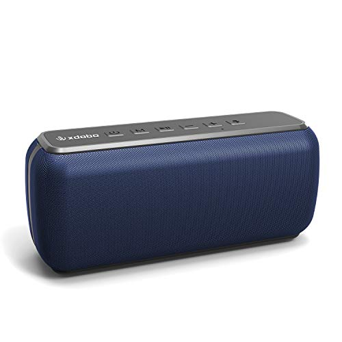 XDOBO Waterproof Portable Wireless Bluetooth Speaker 60W Outdoor Speakers 360 HD Surround Sound & Rich Stereo Bass Bluetooth Speaker Audiophile Speakers with Subwoofer TWS Voice Assistant
