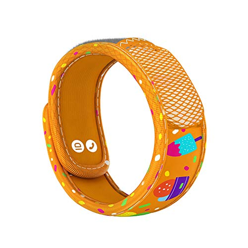 PARA'KITO Mosquito Insect & Bug Repellent Kids Wristband - Waterproof, Outdoor Pest Repeller Bracelet w/ Natural Essential Oils (Ice Cream)