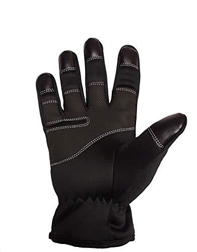 JF-Reitsport One Riding Gloves Unisex-Erwachsene, Schwarz, XL