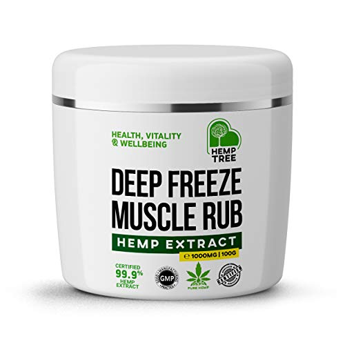 Hemp Tree | Max Strength hemp oil muscle & Joint quick relief cream | 100% organic ingredients formulated for fast acting deep muscle, feet, knees, back & shoulders relief (100ml) Made in the UK