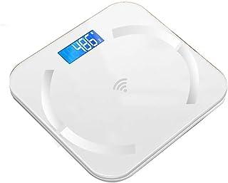 Báscula de baño digital Escala electrónica inteligente, pantalla LED, puede medir temperatura ambiental, se puede utilizar for la Medición de Peso báscula peso corporal (Color : B)