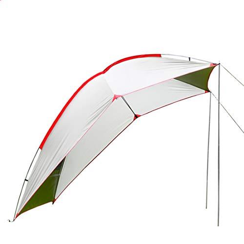 LLC-TENT Awning-Waterproof Auto Canopy Camper Trailer Zelt Roof Top für SUV, MPV, Hatchback, Minivan, Sedan, Camping, Outdoor,5-6 Personen,White