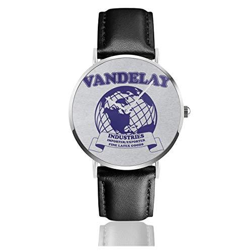 Reloj Unisex de Negocios Informal Vandelay Industries de látex, con Correa de...