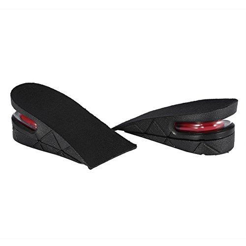 par de plantillas de altura de elevación - 1 par Hombres Mujeres Media altura de elevación Plantillas de aumento 5 cm Zapatos invisibles Talón Almohadillas más altas