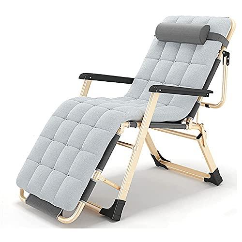 YVX Tumbonas reclinable de jardín de Ocio Plegable Zero Gravity para Acampar...