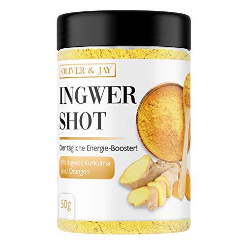 Ingwer Shot Pulver mit Vitamin C und Zink I veganer Ingwer und Kurkuma Shot zum Anrühren von 35 Shots