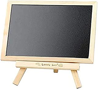 Chalkboards Erasable Wooden Hanging Small Blackboard Desktop Double-Sided Message Home Bracket Children's Easel Writing Bo...