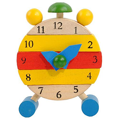 Ourine Wooden Educational Calendar Clock Toy - Childrens Learning Aid