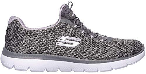 Skechers Damen Summits-Striding Sneaker, Grau, 40 EU