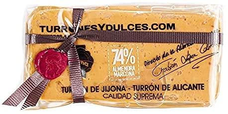 Turrón Jijona con 74% de Almendra Marcona, el máximo porcentaje - Edición Gourmet 300 gramos
