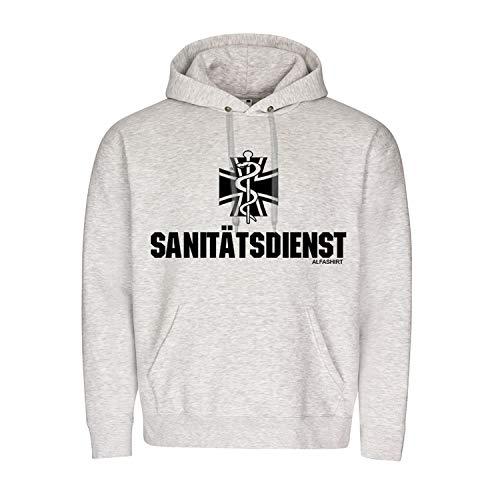 Copytec Sanitätsdienst ZSanDstBw Zentrale Bundeswehr Sanitäter Sani Hoodie #20142, Größe:M, Farbe:Grau