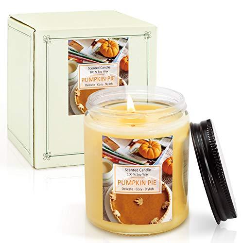 LA BELLEFÉE Duftkerze im Glas (Groß), Kürbis Duft, Sojawachs Kerze 200g, Brenndauer 45 Std