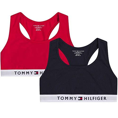 Tommy Hilfiger Damen 2p Bralette Unterwäsche, Primärrot/Wüstenhimmel, 14-16