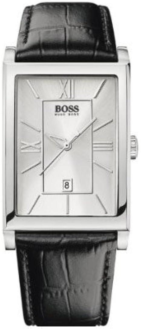 Hugo Boss 1512384 - Reloj de Caballero de Cuarzo, Correa de Piel Color Negro