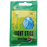 Pineapplen 25pzs / 5 Bolsas 4.5x37mm Varilla Palo de luz Fluorescente Flotador Luminoso de Pesca de Noche Palo Resplandor Oscuro Luces Multicolores Herramientas de Pesca