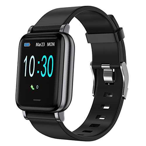 LEBEXY Smartwatch Schrittzähler Fitness Armband Tracker, Wasserdicht IP68 Fitnessuhr Aktivitätstracker Sportuhr mit Pulsuhr, 16 Trainingsmodi Uhr (1.3 Zoll)