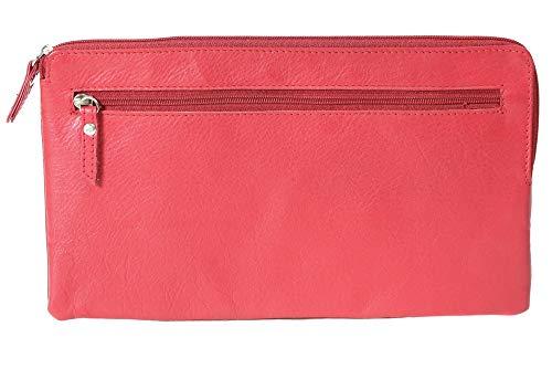 LEAS Bank Deposit Bag, Echt Leer, rood Special-Edition''