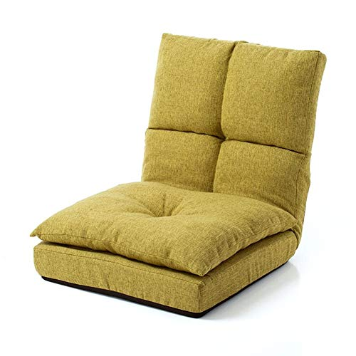 Lounge Sofa Bed Folding Adjustable Floor Lounger Sleeper Futon Soft Mattress Seat Chair Pillow Living Room Bed Room Furniture durable (Color : Green)