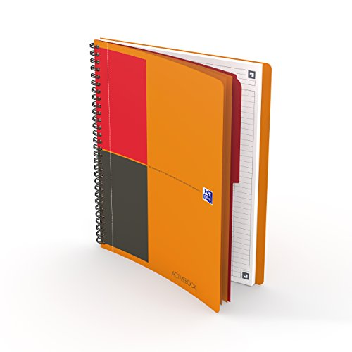 OXFORD 400080787 Activebook Connect International B5 liniert 80 Blatt mit kostenloser App orange Spiralblock Collegeblock - clevere Organisation für Manager und Führungskräfte