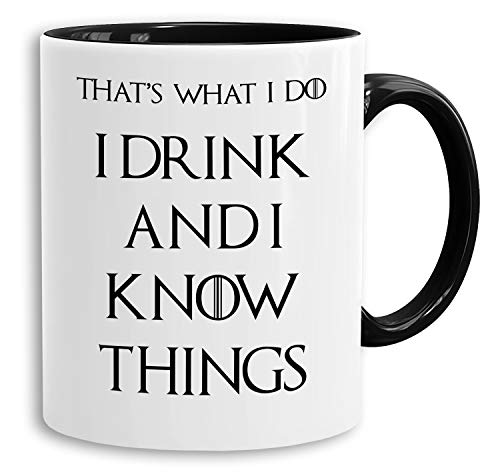 Drink - Tasse Kaffeetasse Targaryen thrones game of stark lannister baratheon Daenerys khaleesi tv blu-ray dvd, Farbe:Weiß