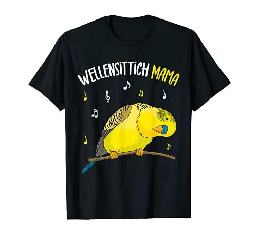 Wellensittich Mama Sittich Vogelbesitzerin lustig T-Shirt