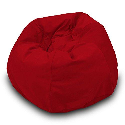 Pouf en soie synthétique L 110 x 70 cm (rouge)