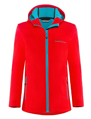 Black Crevice Kinder Softshelljacke, rot/Blau, 152