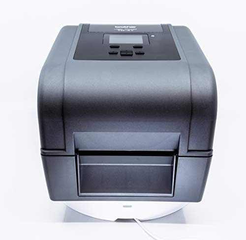 Brother TD-4750TNWB 4-inch Thermal Transfer Desktop Network Barcode and Label Printer for Labels and Barcodes, 300 dpi, 6 IPS, Standard USB 2.0, Serial, Ethernet LAN, Built-in Wi-Fi and Bluetooth