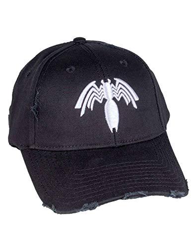 Marvel Venom Baseball Cap Logo Distressed Brim Nue offiziell Schwarz Strapback