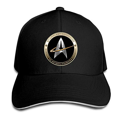 Star Trek Logo Baseball Cap Unisex Cotton Cap Sports Outdoors Cap Black