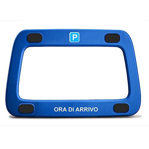 achilles Parkwächter Scheibenadapter für Italien in blau mit 4 Klebepads und Reinigungstuch