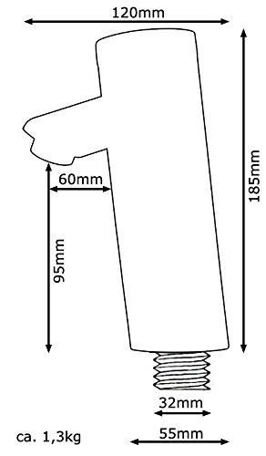Sanlingo – Infrarot-Waschtisch-Armatur, Sensorarmatur, Temperaturregulierung, Batterieversorgung, Gold - 4
