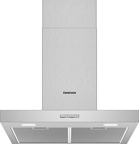 CONSTRUCTA CD636650 Wandhaube Edelstahl 60 cm LED Beleuchtung Energieklasse D