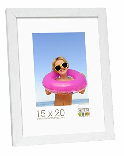 Deknudt Frames S44CF1-15.0X20.0 - Portafoto Basic in Legno e MDF, 15 x 20 cm, Colore: Bianco