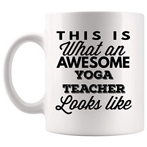 DKISEE Proud Awesome Like Yoga Instructor Teacher Tasse Kaffeetasse – Trainer Trainer Trainer Trainer Yogi Tutor Pädagogin Geschenk für Mitarbeiter Männer Frauen 313 ml
