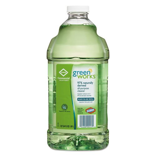 Green Works 00457CT 64 oz Bottle, Natural All-Purpose Cleaner Refill (Case of 6)